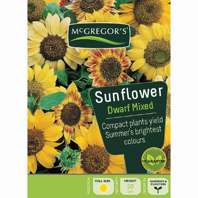 McGregor's Sunflower Dwarf Mixed Flower Seeds, , hi-res