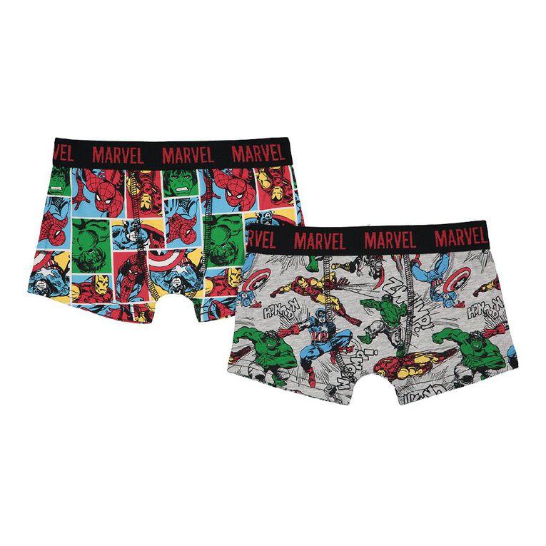 Marvel Boy's Trunk 2 Pack, Multi-Coloured, hi-res