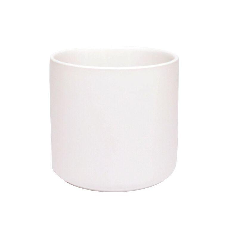 Kiwi Garden Rangitoto Pot White 18cm, , hi-res
