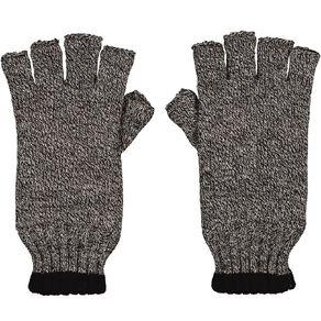 Rivet Stripe Fleck Half Finger Gloves