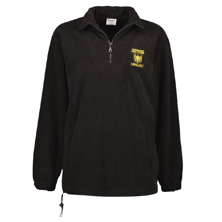 Schooltex Coromandel Area School Polar Fleece Top with Embroidery, Black, hi-res