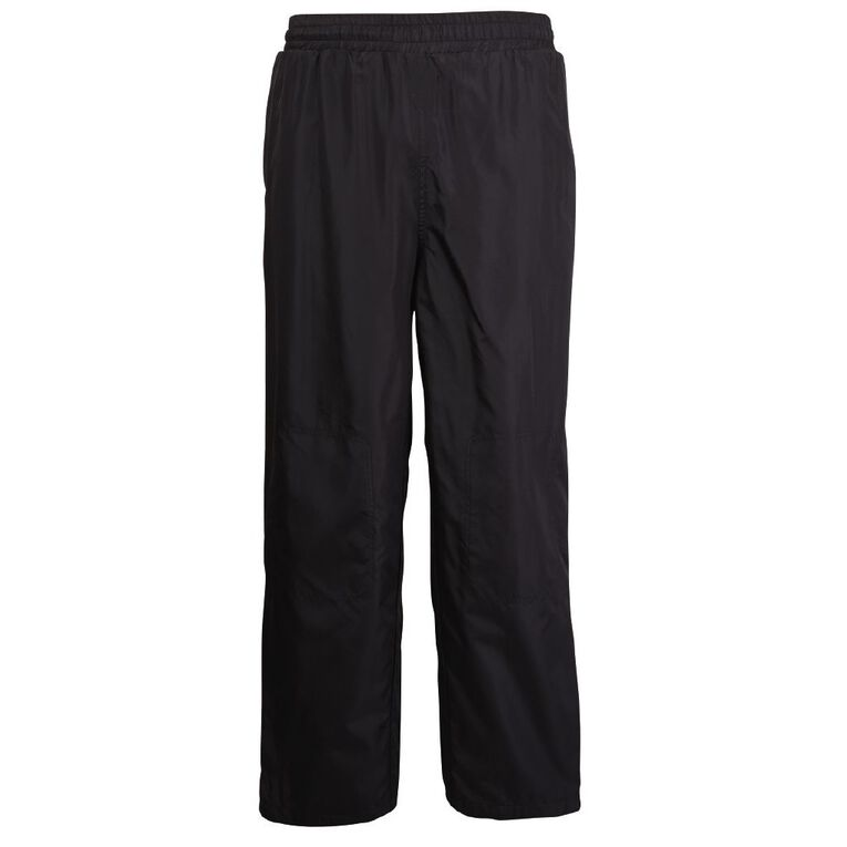 Schooltex Straight Leg Pongee Trackpants, Black, hi-res