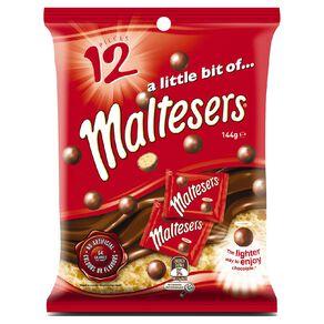 Maltesers Chocolate Medium Party Share Bag 144g 12 Pack