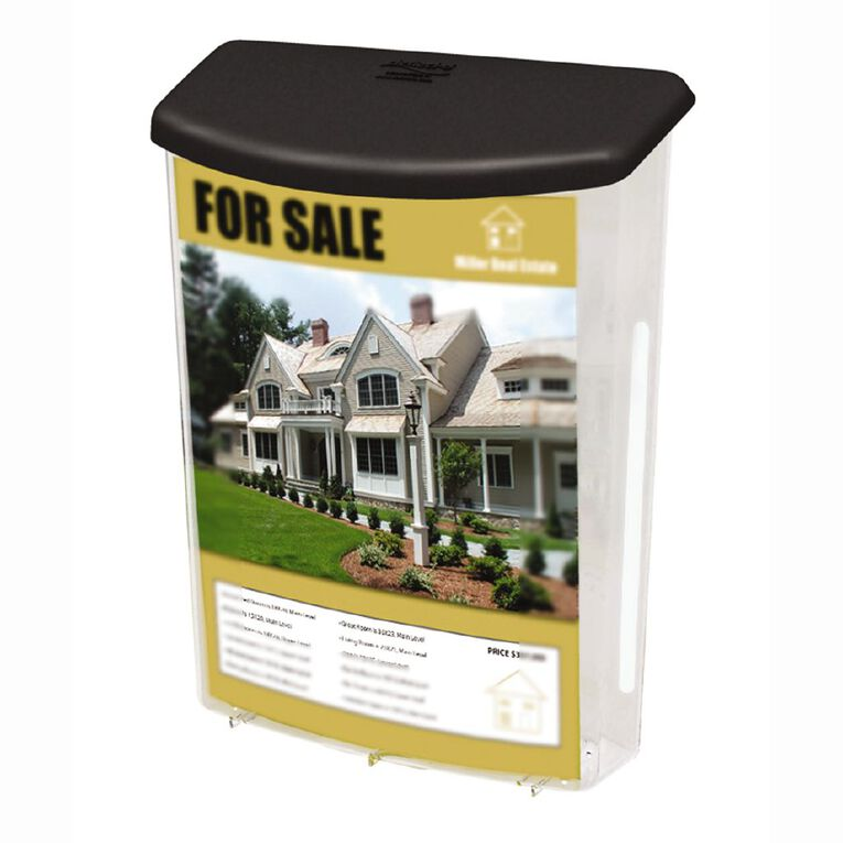 Deflecto Brochure Holder Outdoor With Lid A4, , hi-res