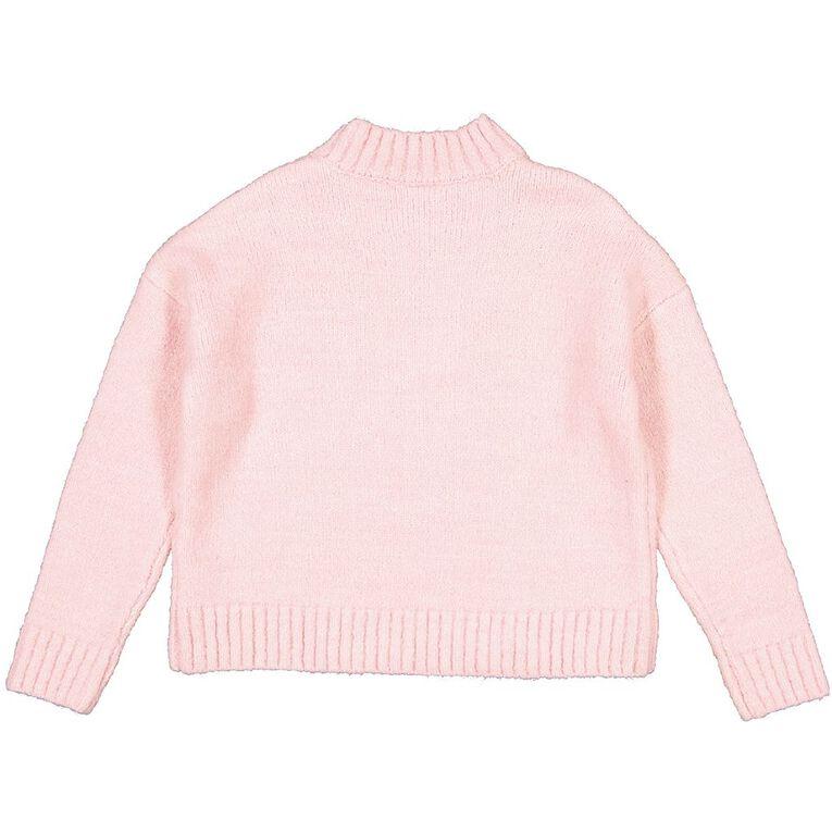 Young Original Cable Knit Jumper, Pink Light, hi-res