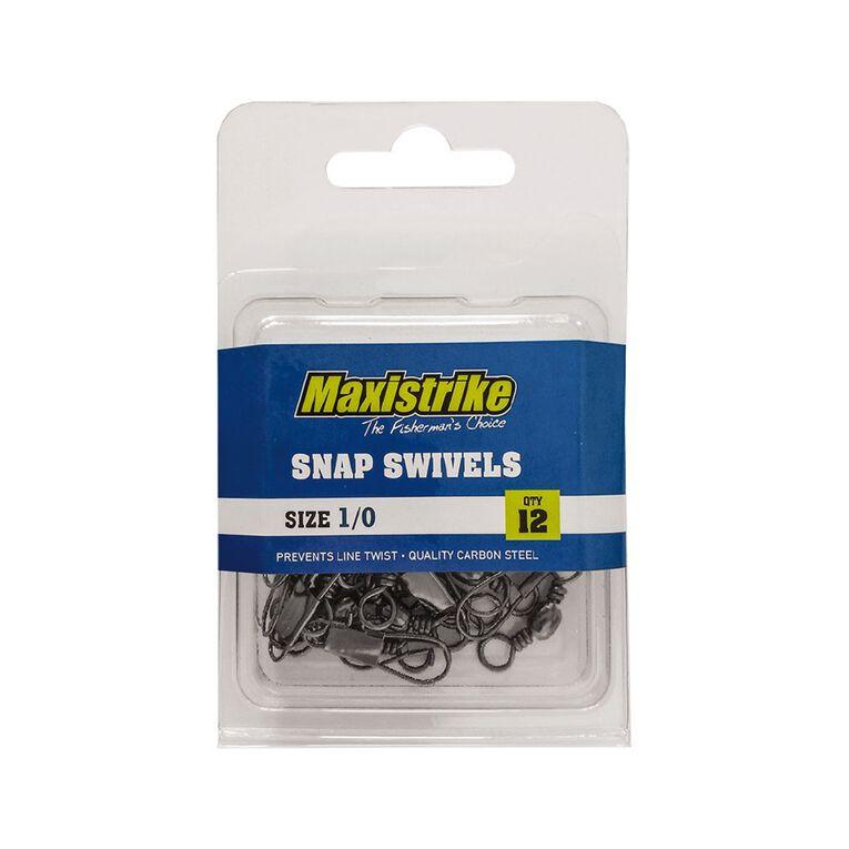 Maxistrike 1/0 Snap Swivels 12 Pack, , hi-res