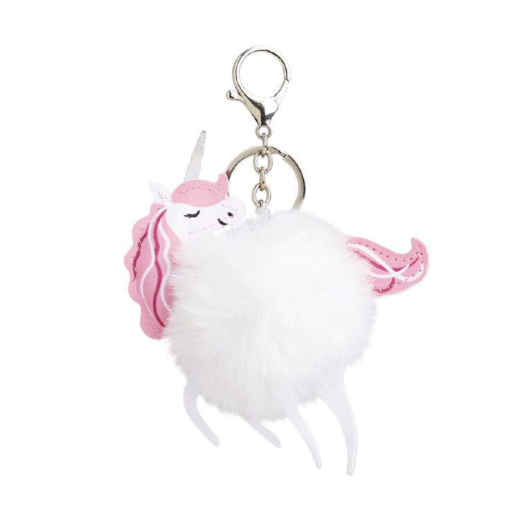 Kookie Bright Keychain With Pom Pom Pink, , hi-res