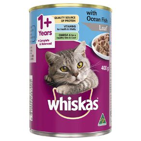 Whiskas Whiskas Adult Cat Oh So Fishy Ocean Fish Platter Loaf Style 400g