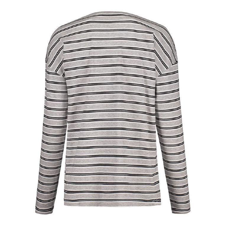 H&H Women's Long Sleeve, Grey/White, hi-res