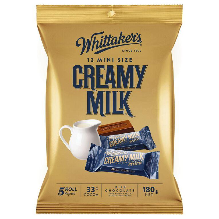 Whittaker's Mini Slab Creamy Milk Share Pack 12 Pack 180g, , hi-res