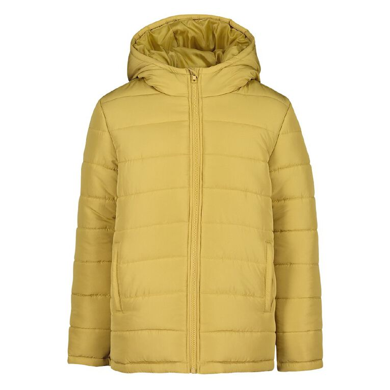 Young Original Plain Puffer Jacket, Yellow Dark, hi-res