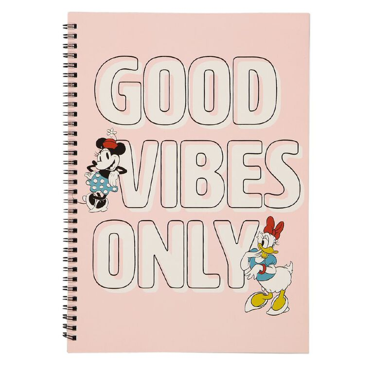Minnie Mouse Q2 Softcover Spiral Notebook A4 Pink, , hi-res
