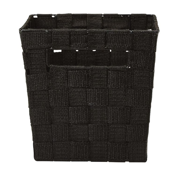 Living & Co Woven Basket Black Small, , hi-res