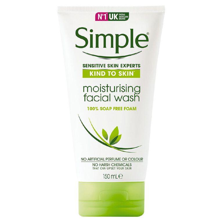 Simple Moisturising Foaming Facial Wash 150ml, , hi-res
