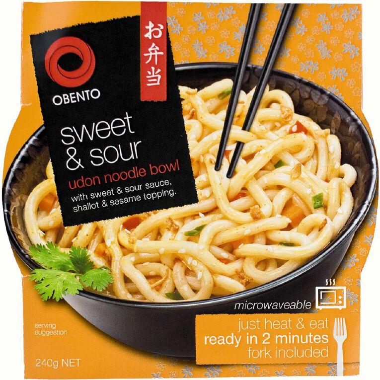 Obento Sweet & Sour Udon Noodle Bowl 240g, , hi-res
