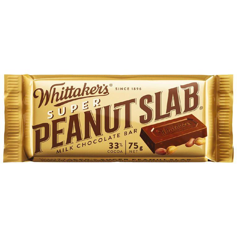 Whittaker's Super Peanut Slab 75g, , hi-res image number null