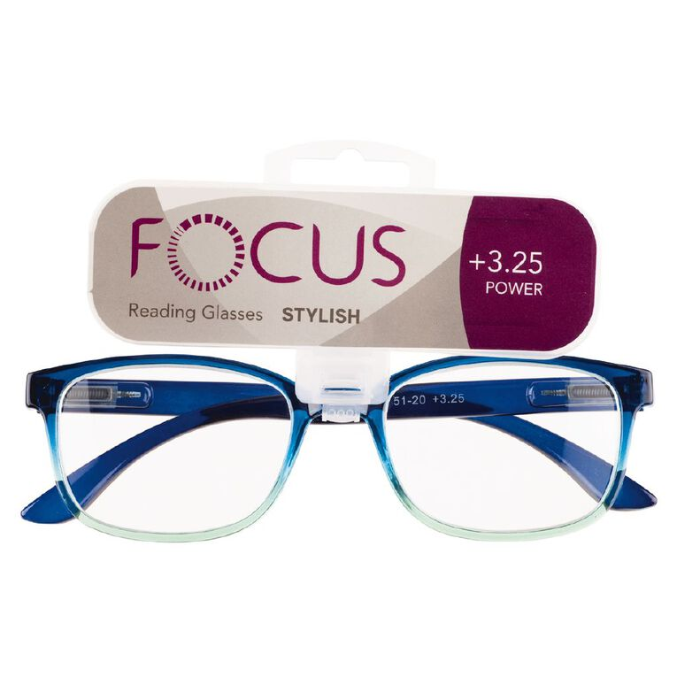 Focus Reading Glasses Stylish Power 3.25, , hi-res