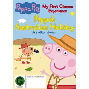 Peppa Pig My First Cinema Experience Peppas Australian Holiday DVD 1Disc