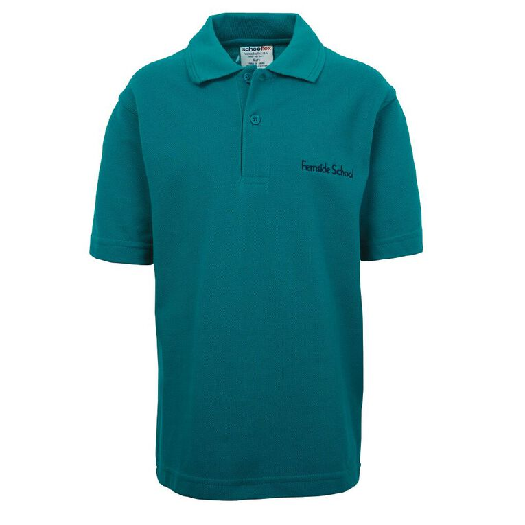 Schooltex Fernside Short Sleeve Polo with Embroidery, Jade, hi-res