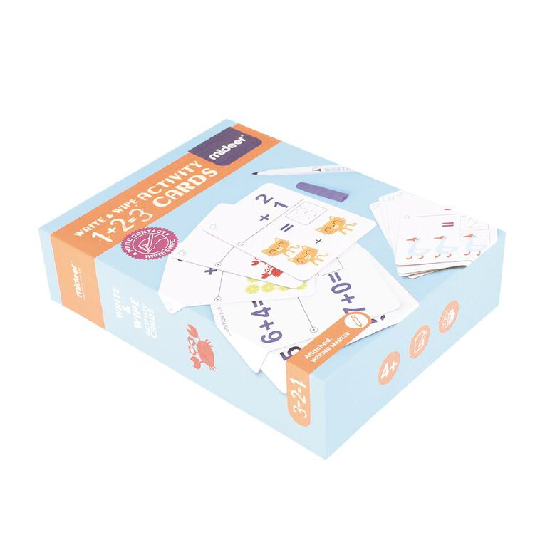Wipe And Write Activity 1+2=3 Cards, , hi-res