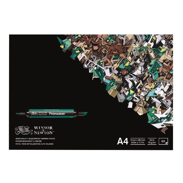 Winsor & Newton Marker Paper Pad Bleedproof 50 Sheets A4, , hi-res