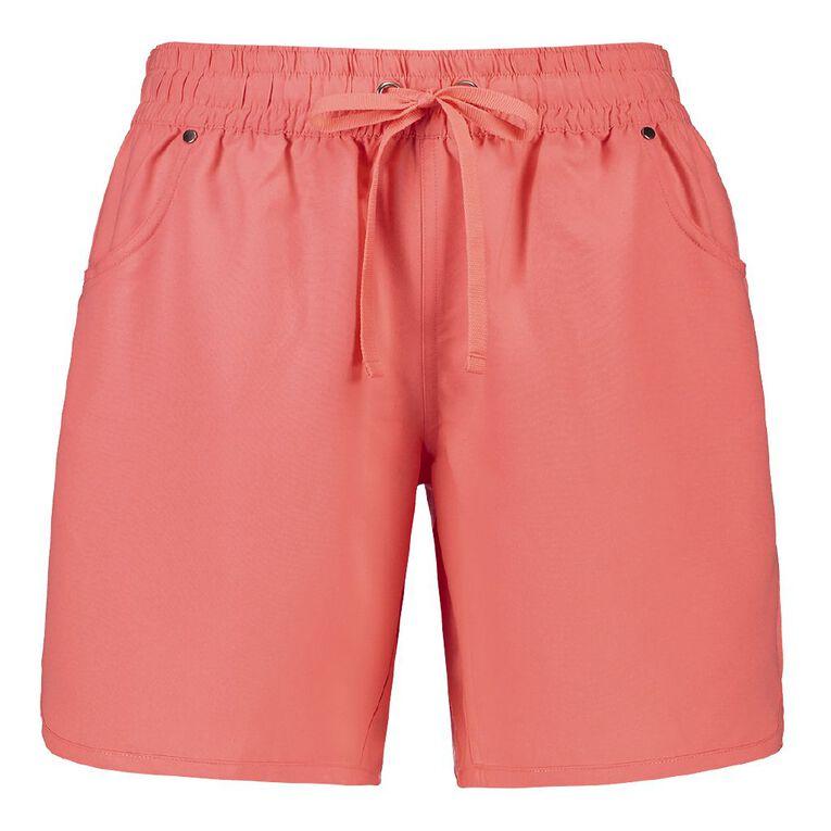 H&H Knee Length Elastic Waist Boardshorts, Orange, hi-res image number null