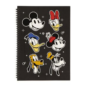Mickey Mouse Notebook Black A4