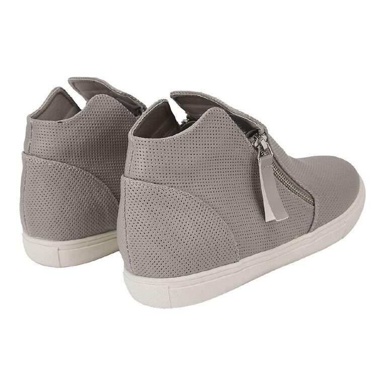 H&H Zippy Casual Shoes, Grey, hi-res