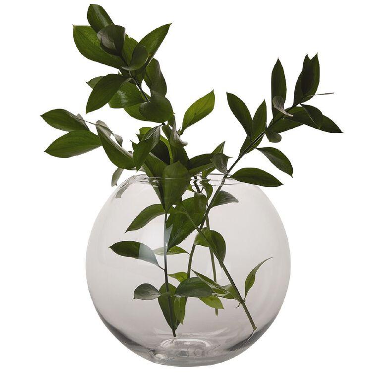 Living & Co Rose Bowl Vase Clear 22cm, , hi-res