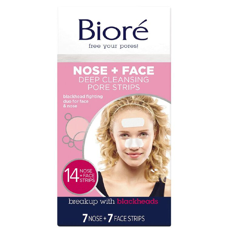 Biore Deep Cleansing Combo Strips 14 Pack, , hi-res