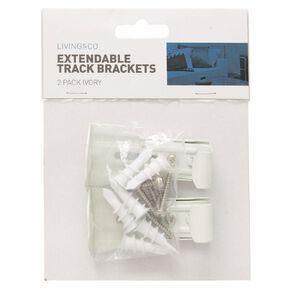 Living & Co Bracket for Extendable Curtain Track 2 Pack