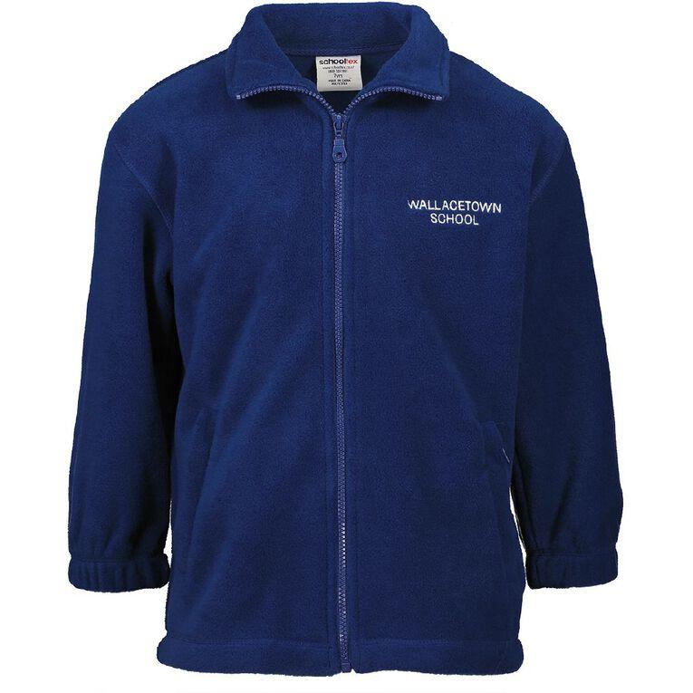 Schooltex Wallacetown Polar Fleece Jacket, Royal, hi-res