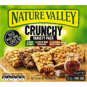 Nature Valley Crunchy Variety Pack 6 Pack 252g