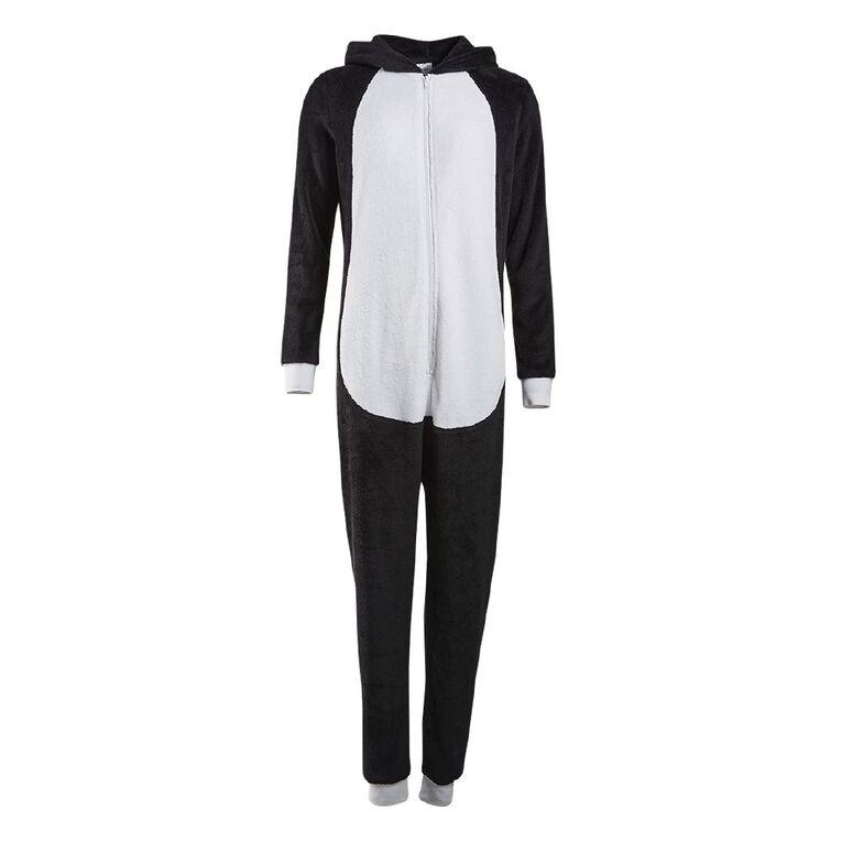 H&H Women's Penguin Onesie, Black, hi-res
