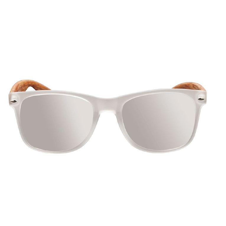 Unisex Wood Frame Sunglasses, Brown, hi-res image number null