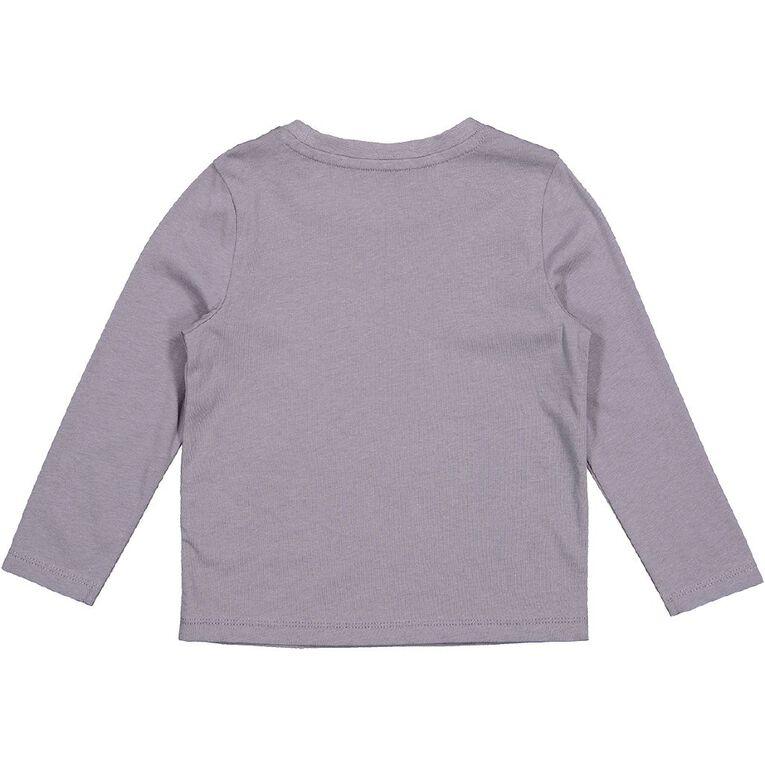 Young Original Toddler 2 Pack Long Sleeve Tees, Grey Dark LOVE MUM, hi-res