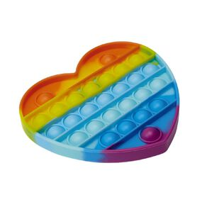 Fidget Pop-It Rainbow Heart
