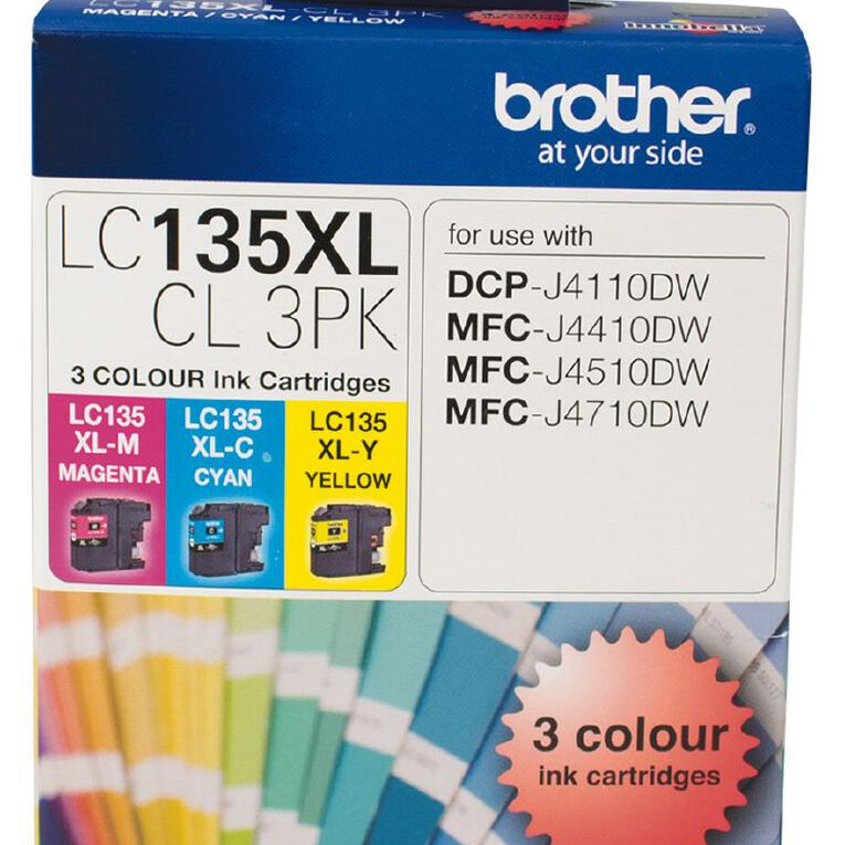 Brother Ink LC135XL Colour 3 Pack (1200 pages), , hi-res