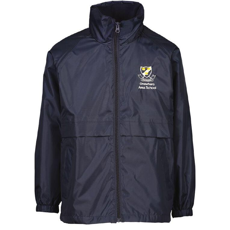 Schooltex Onewhero Area School Lite Jacket with Embroidery, Navy, hi-res