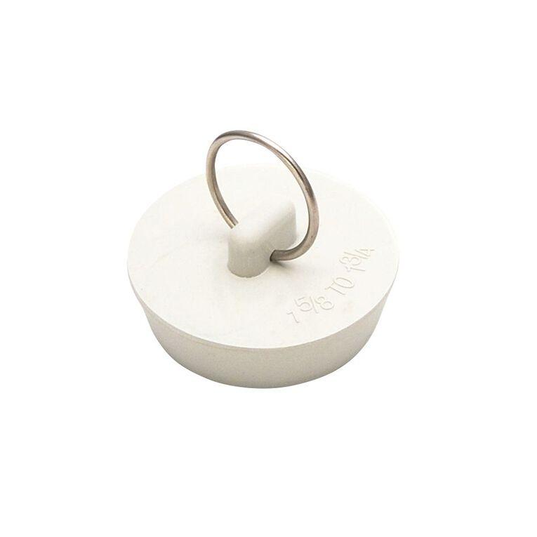 Mako Rubber Sink Plug 41mm White, , hi-res
