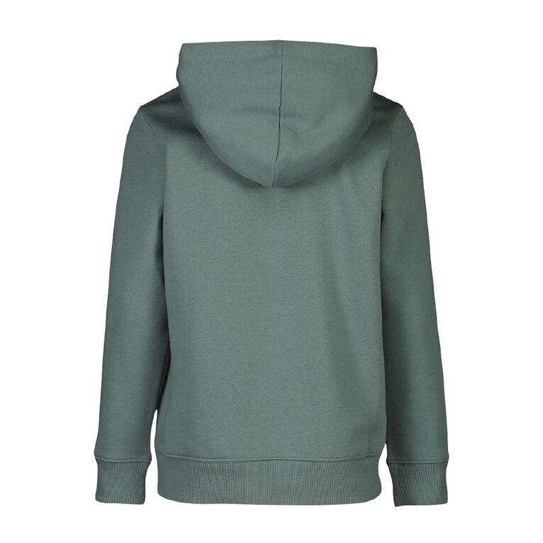Young Original Pullover Hooded Print Sweatshirt, Blue Mid, hi-res