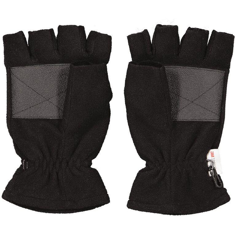 Back Country Men's HF Fleece Gloves, Black, hi-res