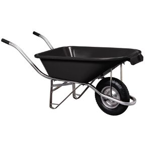 Kiwi Garden Plastic Pourer Wheelbarrow Black 90L