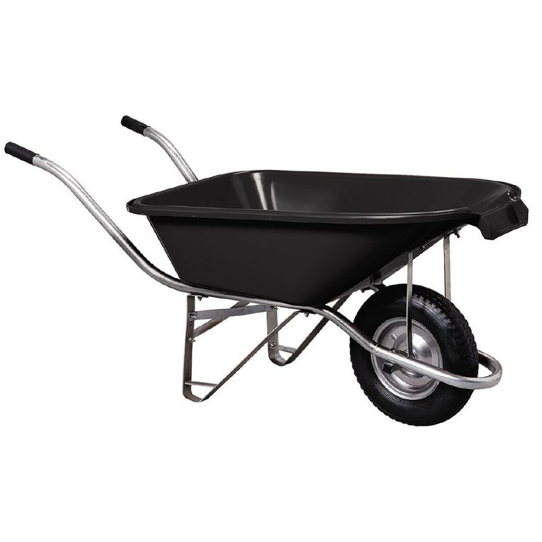 Kiwi Garden Plastic Pourer Wheelbarrow Black 90L, , hi-res