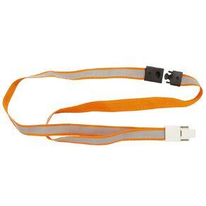 Rexel Reflective Hi Visibility Lanyard 5 Pack Orange