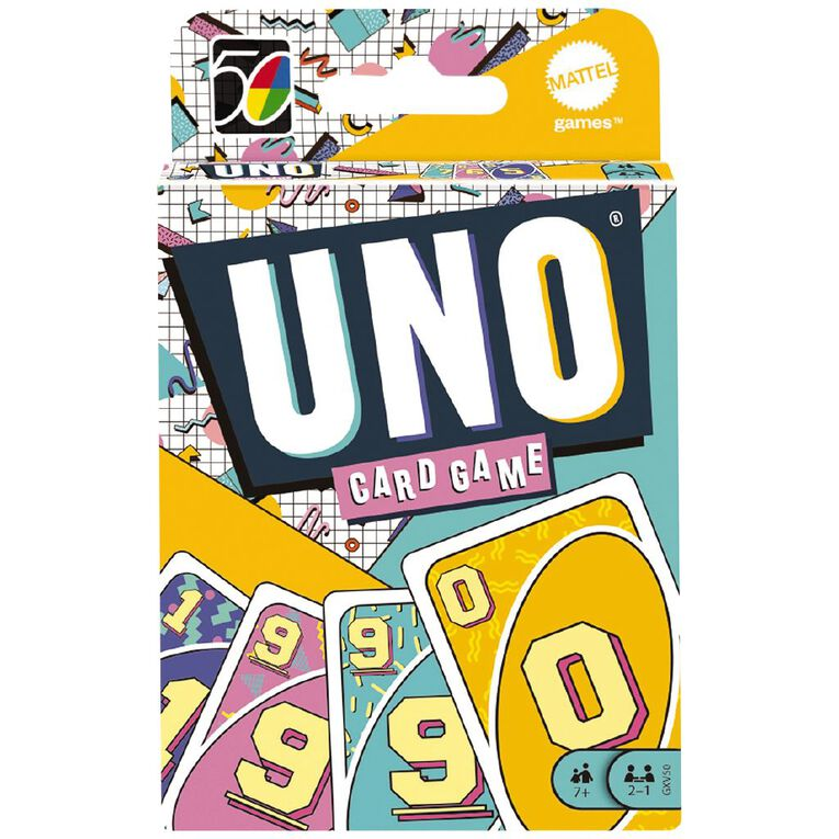 UNO Game Iconics 90s Collector Card Game, , hi-res