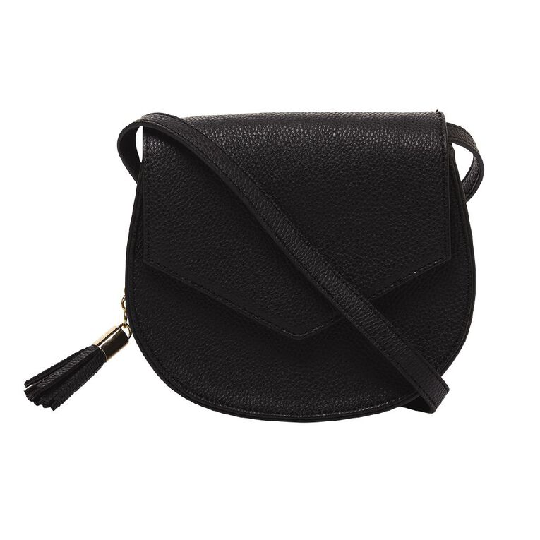 H&H Saddle Handbag, Black, hi-res