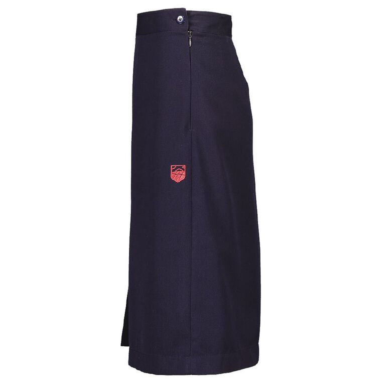 Schooltex Pukekohe Intermediate Two Side Pleat Skirt with Embroidery, Dark Navy, hi-res