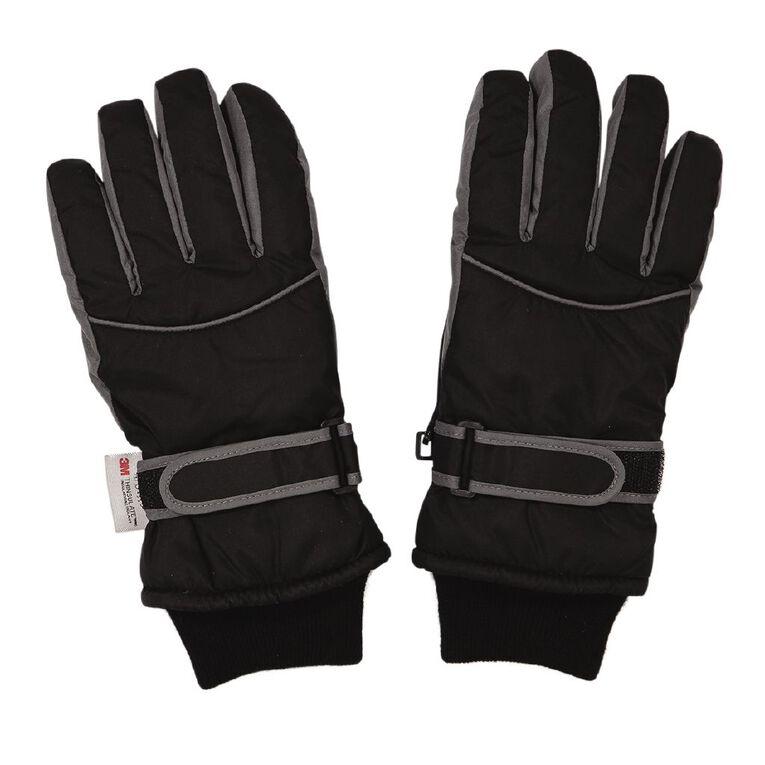 Young Original Kids' Ski Gloves, Black, hi-res