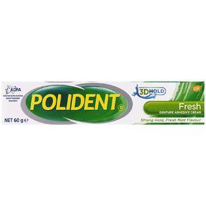 Polident Denture Adhesive Freshmint 60g